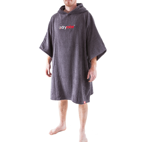 DRYROBE - SHORT SLEEVE TOWEL Grey - Sharks Swim Shop