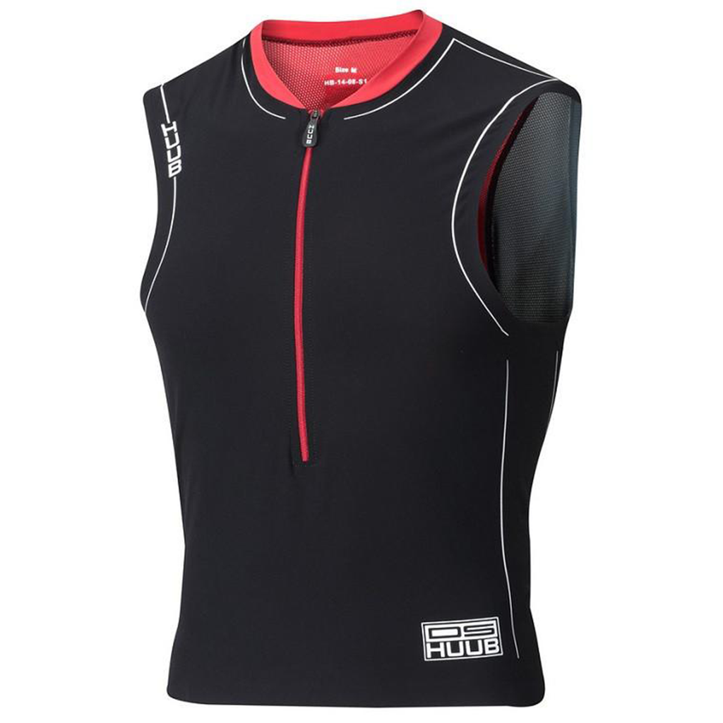 HUUB - Dave Scott Tri Singlet Black/Red