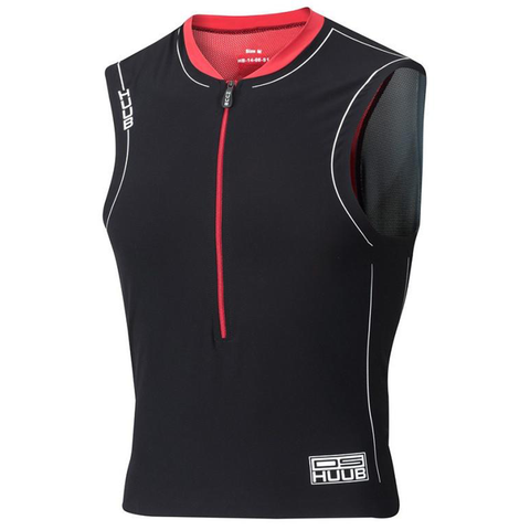HUUB - Dave Scott Tri Singlet Black/Red - Sharks Swim Shop