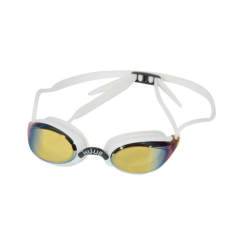 HUUB - Brownlee Race Goggles White/Yellow Mirror - Sharks Swim Shop