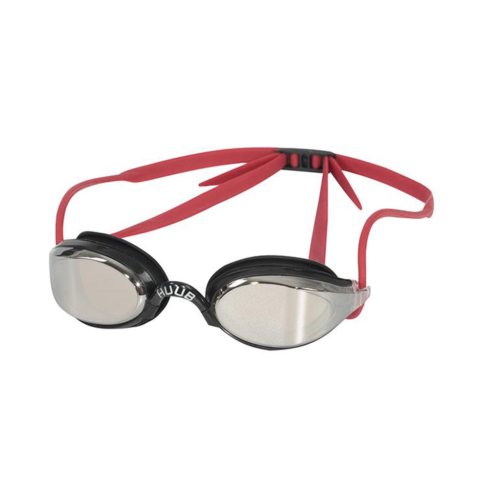 HUUB - Brownlee Race Goggles Black/Red with Light Smoke Mirror