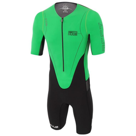 HUUB - Dave Scott Long Course Suit Sleeved - Black/Green - Sharks Swim Shop
