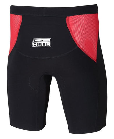 HUUB - Dave Scott Tri Shorts Black & Red - Sharks Swim Shop