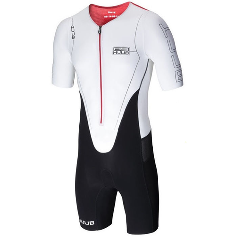 HUUB - Dave Scott Long Course Suit Sleeved - White - Sharks Swim Shop