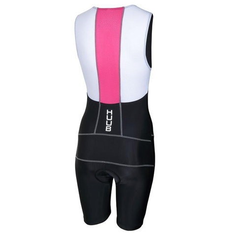 HUUB - Womens Essential Tri Suit Black/Pink - Sharks Swim Shop