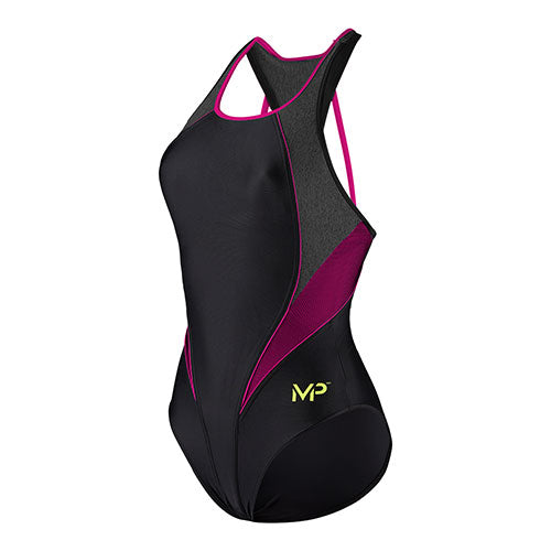 Michael Phelps - Womens Hanoi Swimsuit Black & Bright Pink