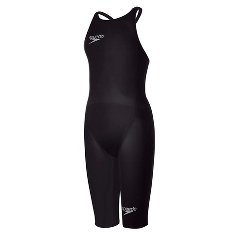 Speedo - Womens Lazor Elite 2 Open Back Kneeskin Black