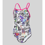 Maru - Girls Neon Safari Pacer Fly Back White/Multi