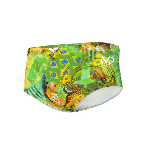 Michael Phelps - Corco Brief L Green Yellow - Sharks Swim Shop