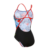 Michael Phelps - Womens Flower Racer Back L Multicolour Black