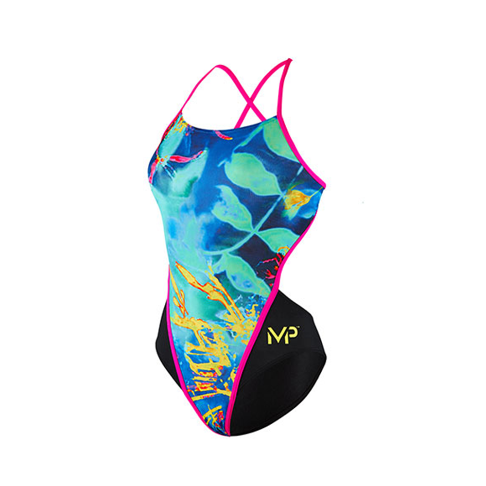Michael Phelps - Womens Fusion Open Back L Multicolour Black