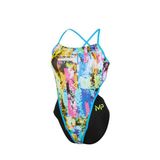 Michael Phelps - Womens Tropic Open Back L Multicolour Black