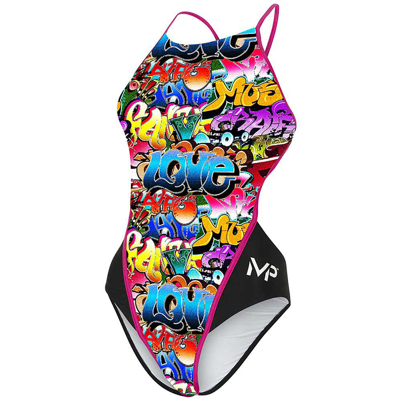 Michael Phelps - Womens Tucson Open Back Dark Pink