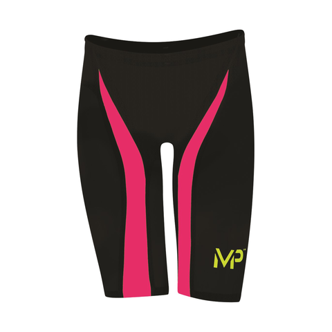 Michael Phelps - X Presso Jammer Black/Bright Pink - Sharks Swim Shop