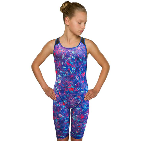 Maru - Girls Galaxy Knee Skin - Multi - Sharks Swim Shop