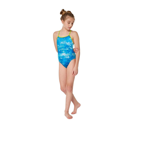 Maru - Girls Aquatix Pacer Fly Back Blue Turquoise