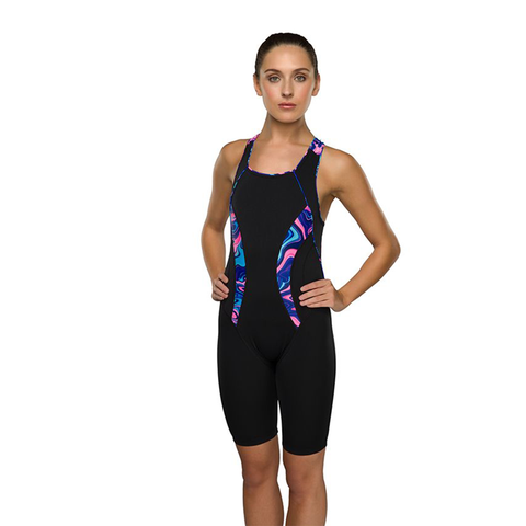 Maru - Womens Galaxy Swirl Pacer Panel Legsuit Black Multi