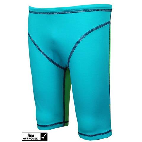 Maru - Boys XT3 Junior Pro Jammer Turquoise/Lime - Sharks Swim Shop