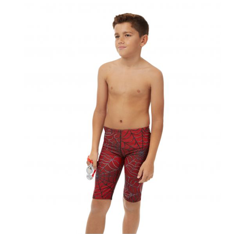 Maru - Boys Superhero Pacer Jammer Red - Sharks Swim Shop