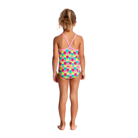 FUNKITA - Toddler Girls Printed One Piece Minty Mittens - Sharks Swim Shop