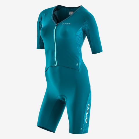 Orca - Womens 226 Short Sleeved Komp Racesuit Teal