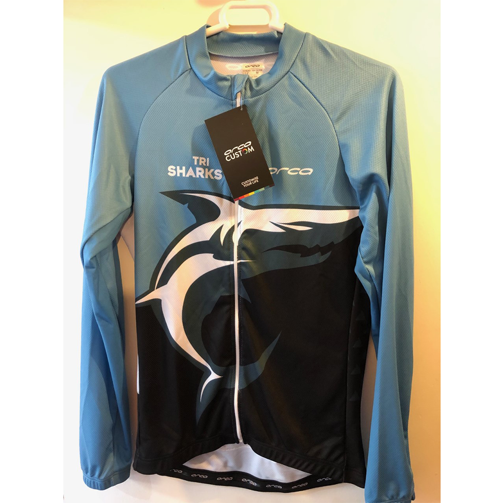 Orca - Womens Custom Long Sleeved TriSharks Cycle Jersey