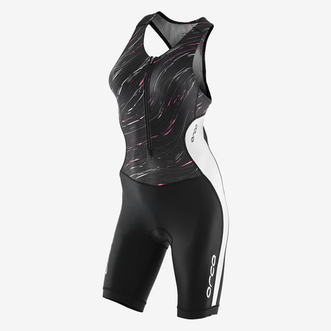 Orca - Womens Core  Racesuit Black/White/Pink