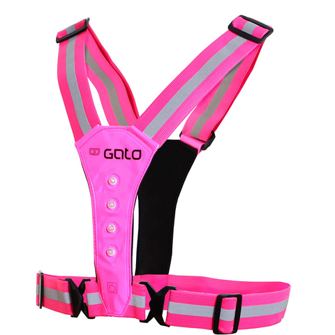 GATO - LED Safer Sport Vest Pink - Sharks Swim Shop