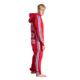 SWIMZI - Onesie 'EAT SLEEP SWIMZI' Red Royal Blue