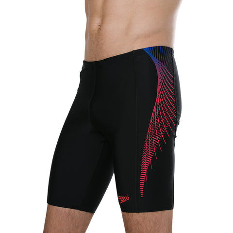 Speedo - Mens Placement Panel Jammer V2 AM Black/Blue/Red
