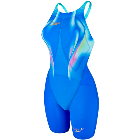 Speedo - Womens Lazer Elite 2 Openback Kneeskin Blue/Blue