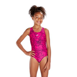 Speedo - Girls Boom Allover Splashback JF Pink & Black