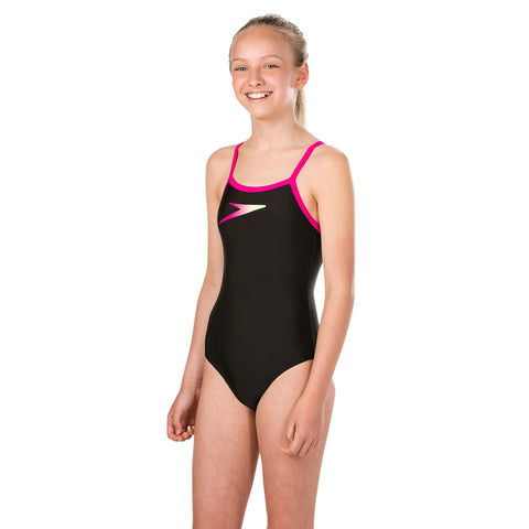 Speedo - Girls Placement Thinstrap Muscleback Swimsuit