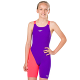 Speedo - Girls Junior Fastskin Endurance+ Openback Kneeskin Purple/Red