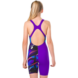 Speedo - Girls Junior Fastskin Endurance+ Openback Kneeskin Black/Blue