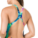 Speedo - Womens FlareFlash Placement Digital Powerback Swimsuit