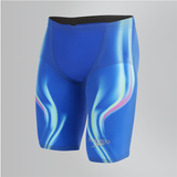 Speedo - Mens Lazer Racer Elite 2 High Waisted Jammer Blue/Blue
