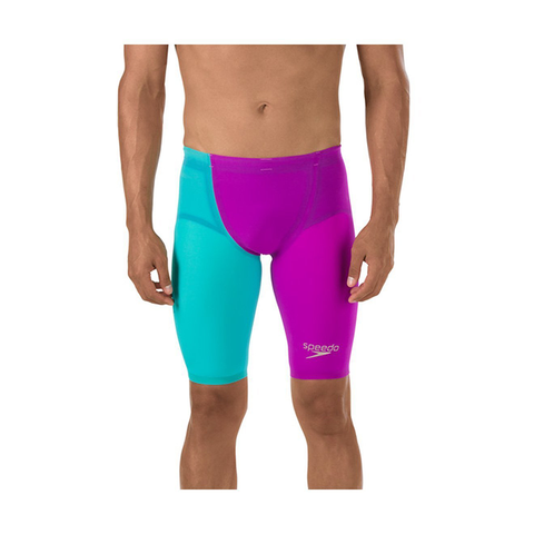 Speedo - Mens Lazer Racer Elite 2 High Waisted Jammer Purple/Blue
