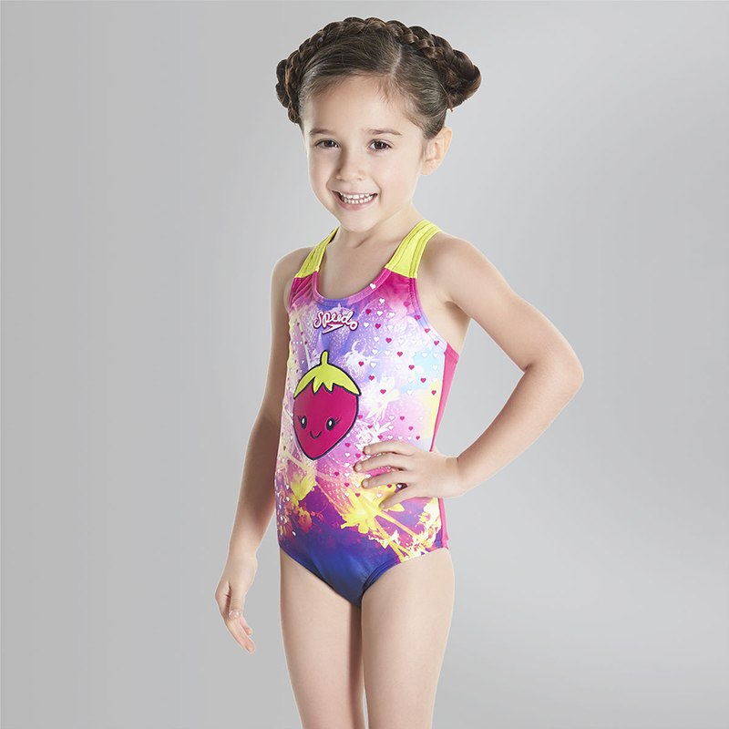 Speedo - Sea Squad Girls Starfizz Essential Applique 1 Piece