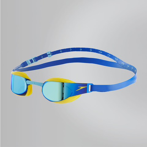 Speedo - Goggles FastSkin Elite Mirror Junior Blue/Yellow - Sharks Swim Shop