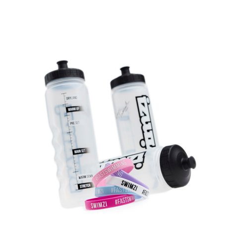 Swimzi - 1 Litre Drinks Bottle Pastel Bands