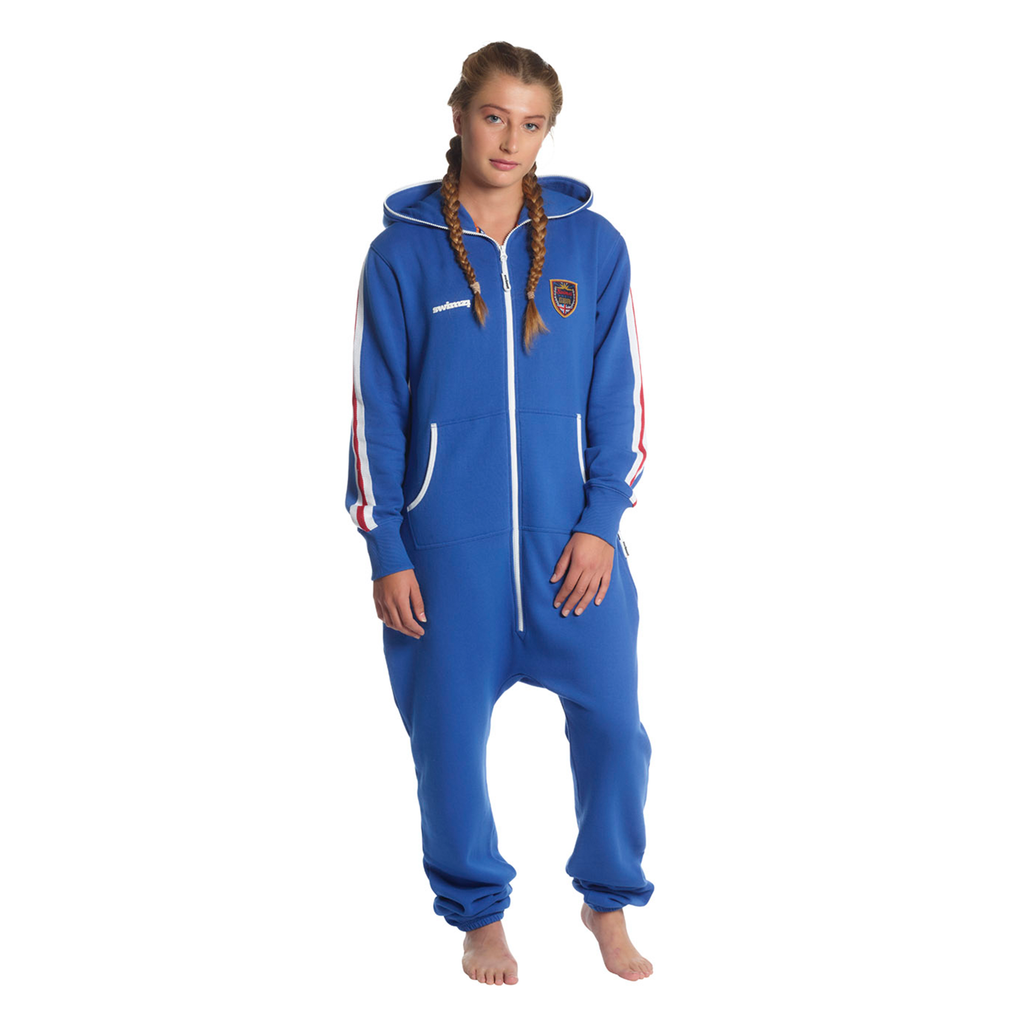 SWIMZI - Onesie 'GBR' Great Britain Royal Blue Red