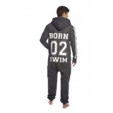 SWIMZI - Onesie 'BORN 02 SWIMZI' Graphite
