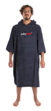 DRYROBE - Towel Poncho Hooded Changing Robe Navy Blue
