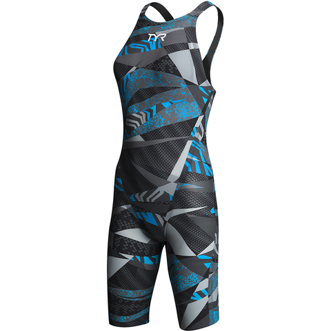 TYR - Womens Avictor  Prelude Open Back Black/Blue