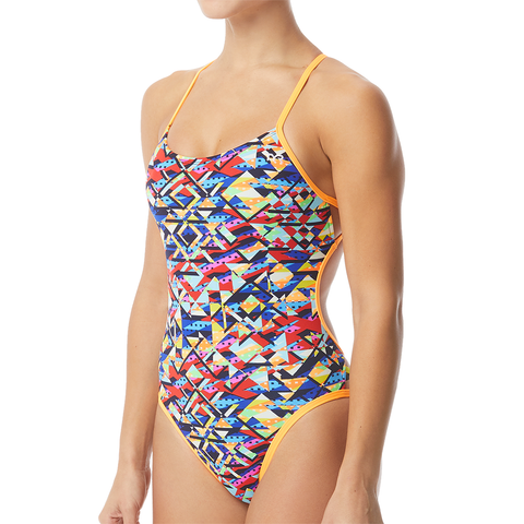 TYR - Womens Swimsuit Mosaic MJV CutOutFit Multi