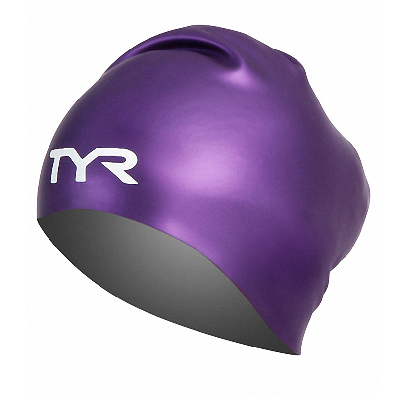 TYR - Long Hair Silicone Cap Purple