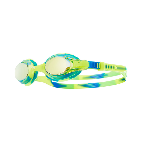 TYR -  Swimple Tie Dye Kids Mirrored Goggles Green
