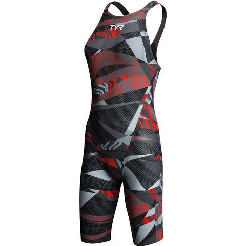 TYR - Womens Avictor  Prelude Open Back Grey/Red