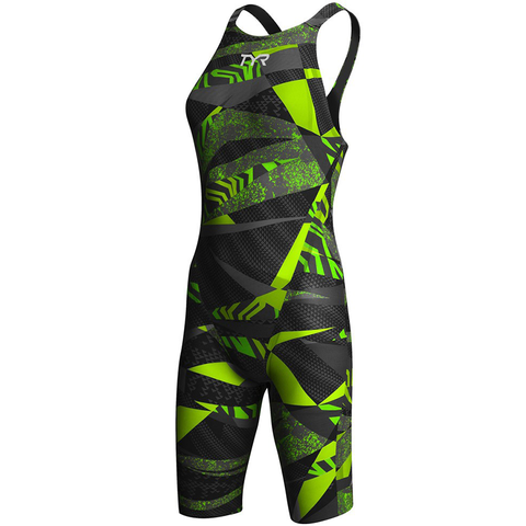TYR - Womens Avictor  Prelude Open Back Black/Green